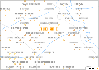 map of Tuchanie