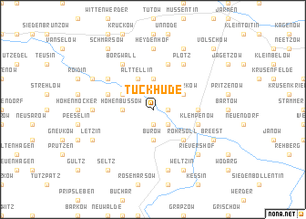 map of Tückhude