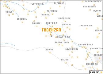 map of Tūdeh Zan
