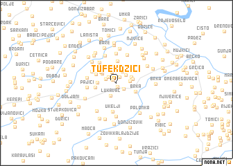 map of Tufekdžići