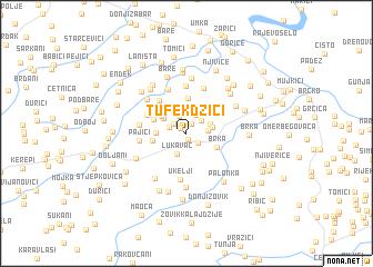 map of Tufekdžići