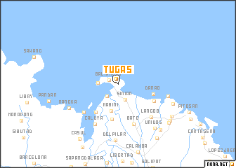 map of Tugas