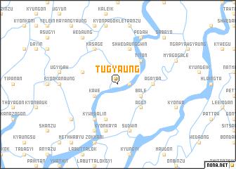 map of Tugyaung