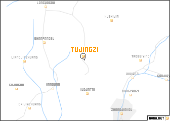 map of Tujingzi
