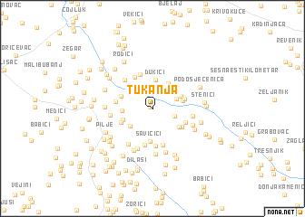 map of Tukanja