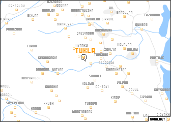 map of Tüklǝ