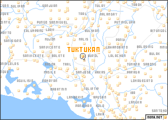 map of Tuktukan