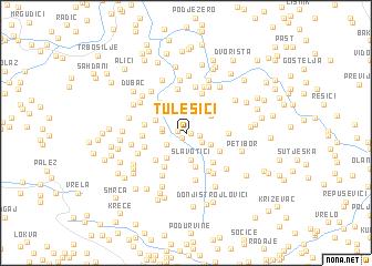 map of Tulešići