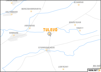 map of Tulevo