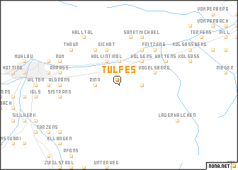 map of Tulfes
