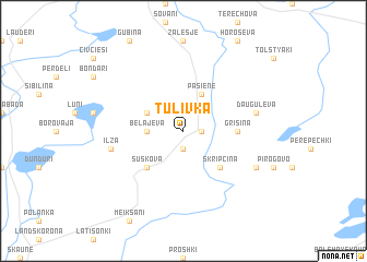 map of Tulivka