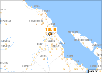 map of Tuliw