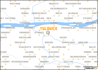 map of Tułowice