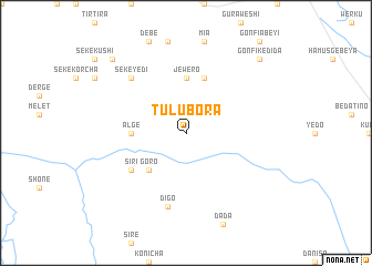 map of Tulu Bora