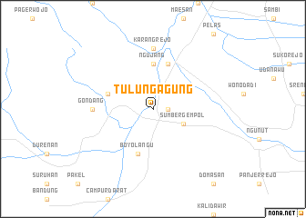 map of Tulungagung