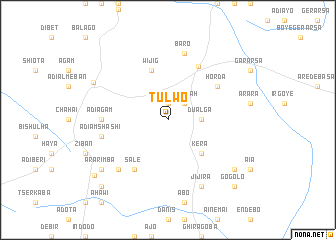 map of Tulwo