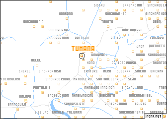 map of Tumaná