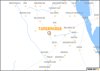 map of Tungan Kade