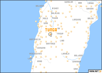 map of Tunga