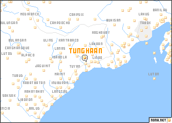 map of Tunghaan