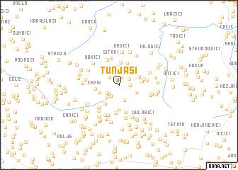 map of Tunjaši