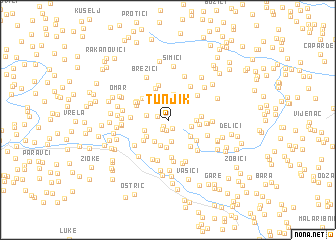 map of Tunjik