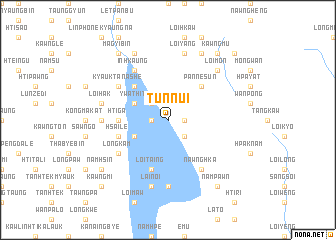 map of Tunnui