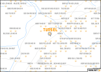 map of Tunsel
