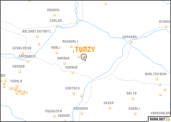 map of Tunzy