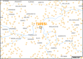 map of Tupeši
