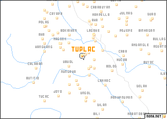 map of Tuplac