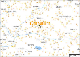 map of Turanjevina