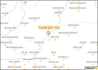 map of Tūrāqayeh