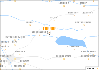 map of Turawa