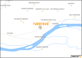 map of Turayevo