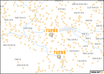 map of Turbe