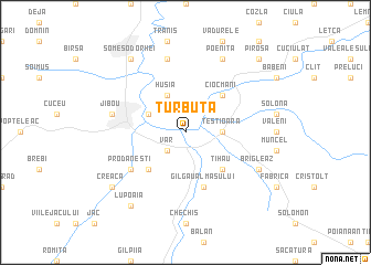 map of Turbuţa