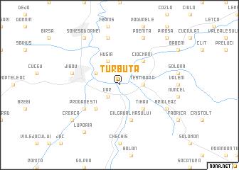 map of Turbuţa