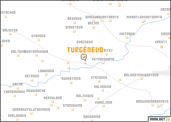 map of Turgenevo