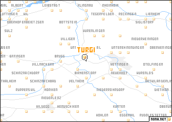 map of Turgi