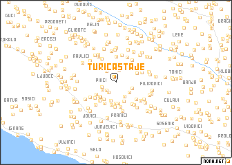 map of Turića Staje