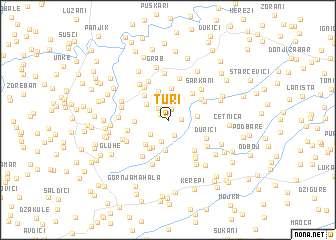 map of Turi°