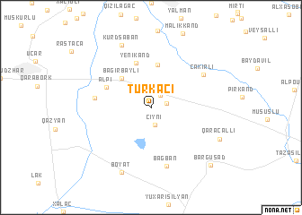 map of Türkǝçi