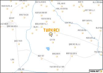 map of Türkǝçi
