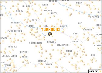 map of Turkovići
