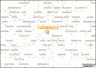 map of Turobowice