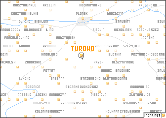 map of Turowo