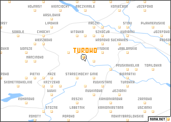 map of Turowo