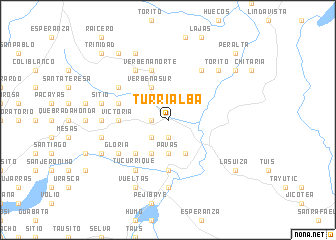 map of Turrialba
