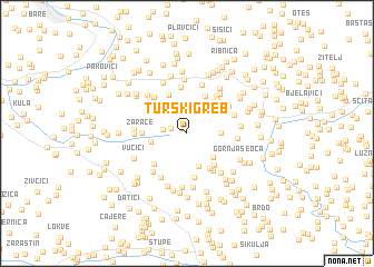 map of Turski Greb